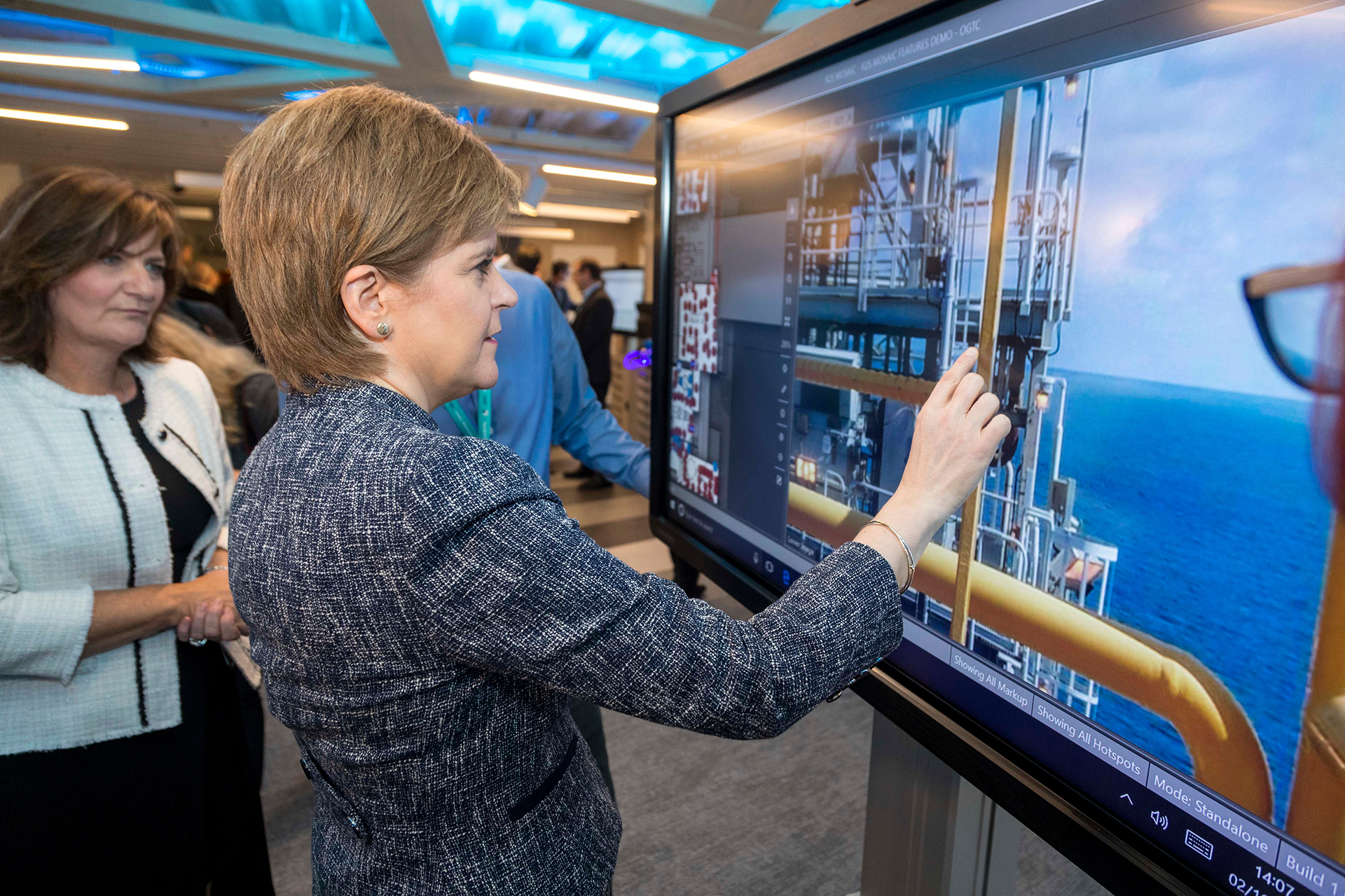 Forward-looking. Nicola Sturgeon, Scotland's first minister, looks into the future. (Photo: Oil & Gas Technology Centre)