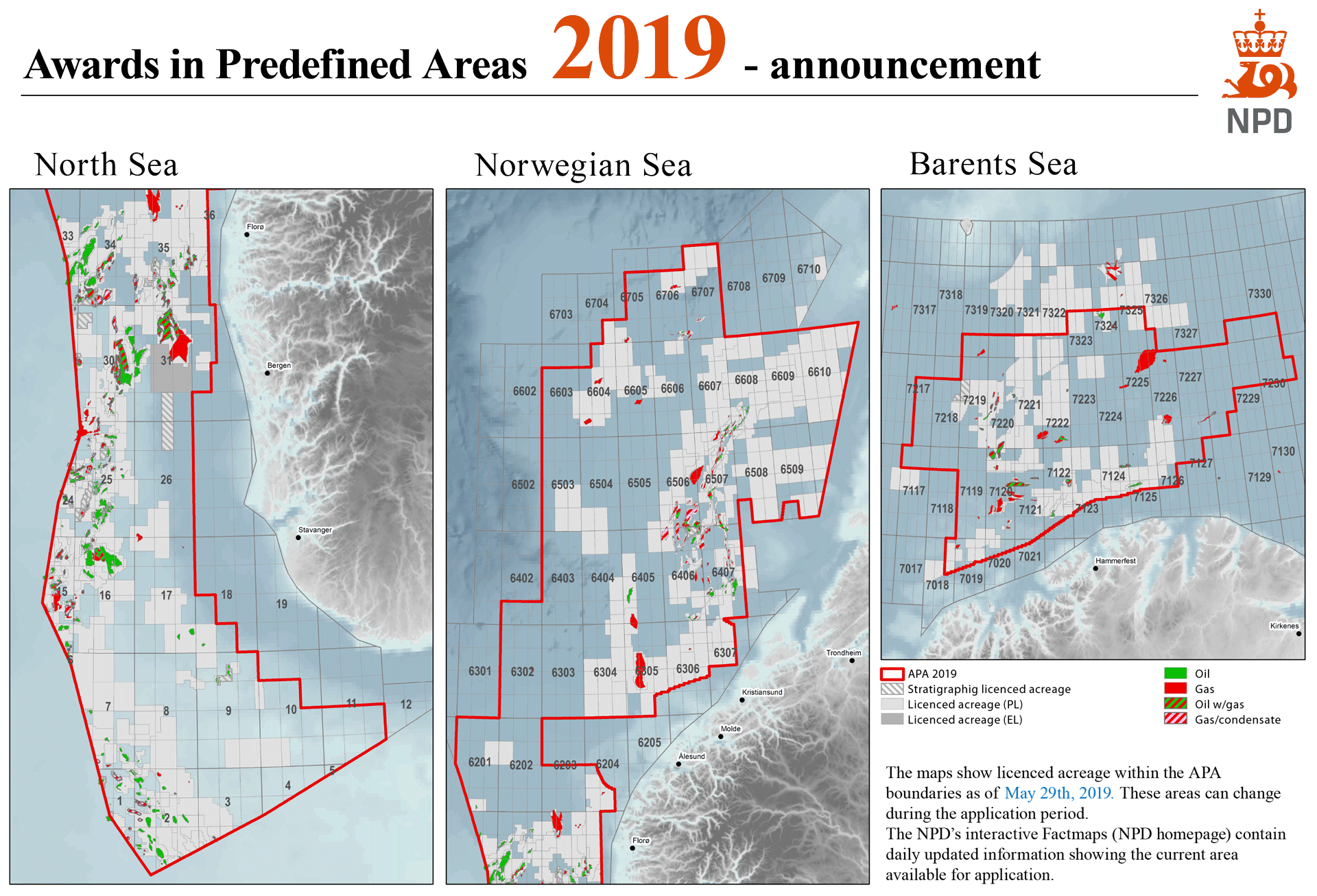 Map of announcement APA 2019