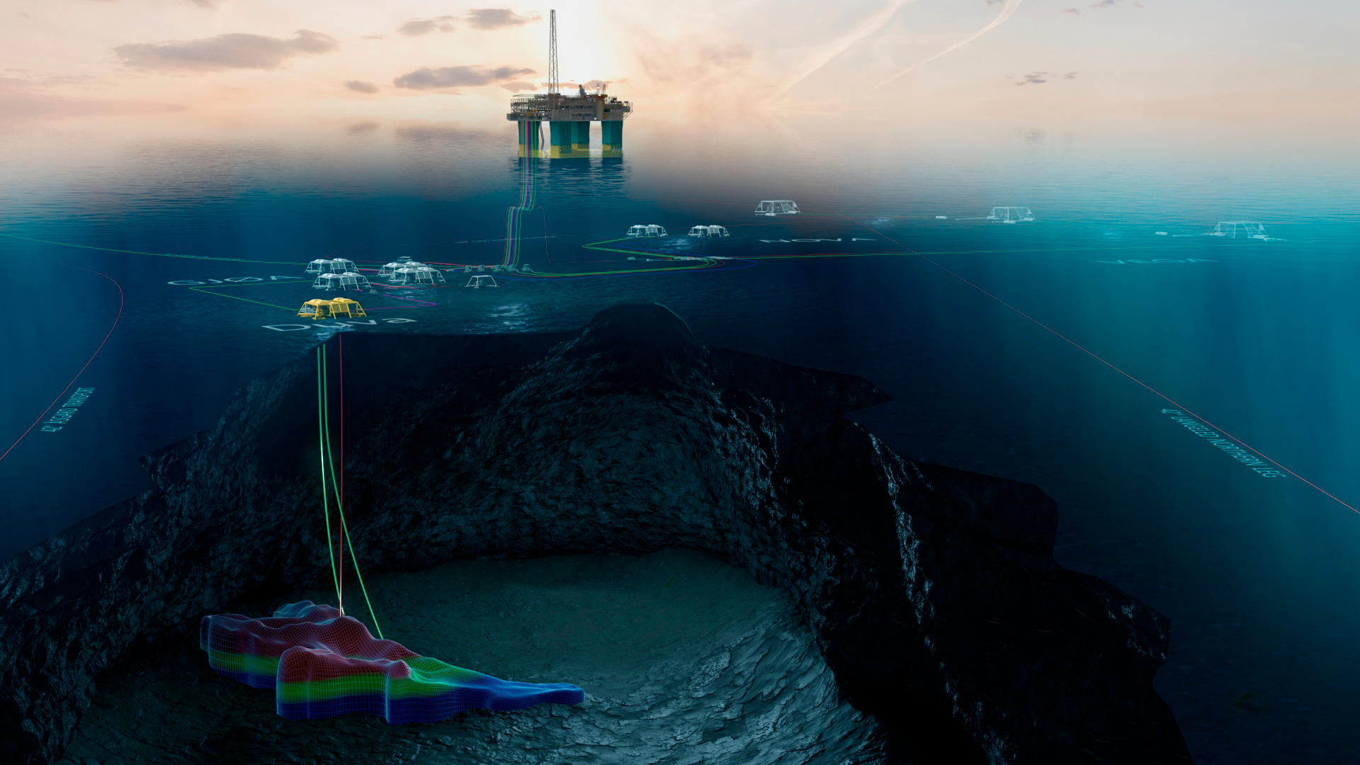 The reserves in Duva are estimated at 14 million standard cubic metres of oil equivalents (88 million barrels). The field will be developed with a subsea facility, and the oil and gas will be transported to Gjøa for processing and export. (Illustration: Neptune Energy)