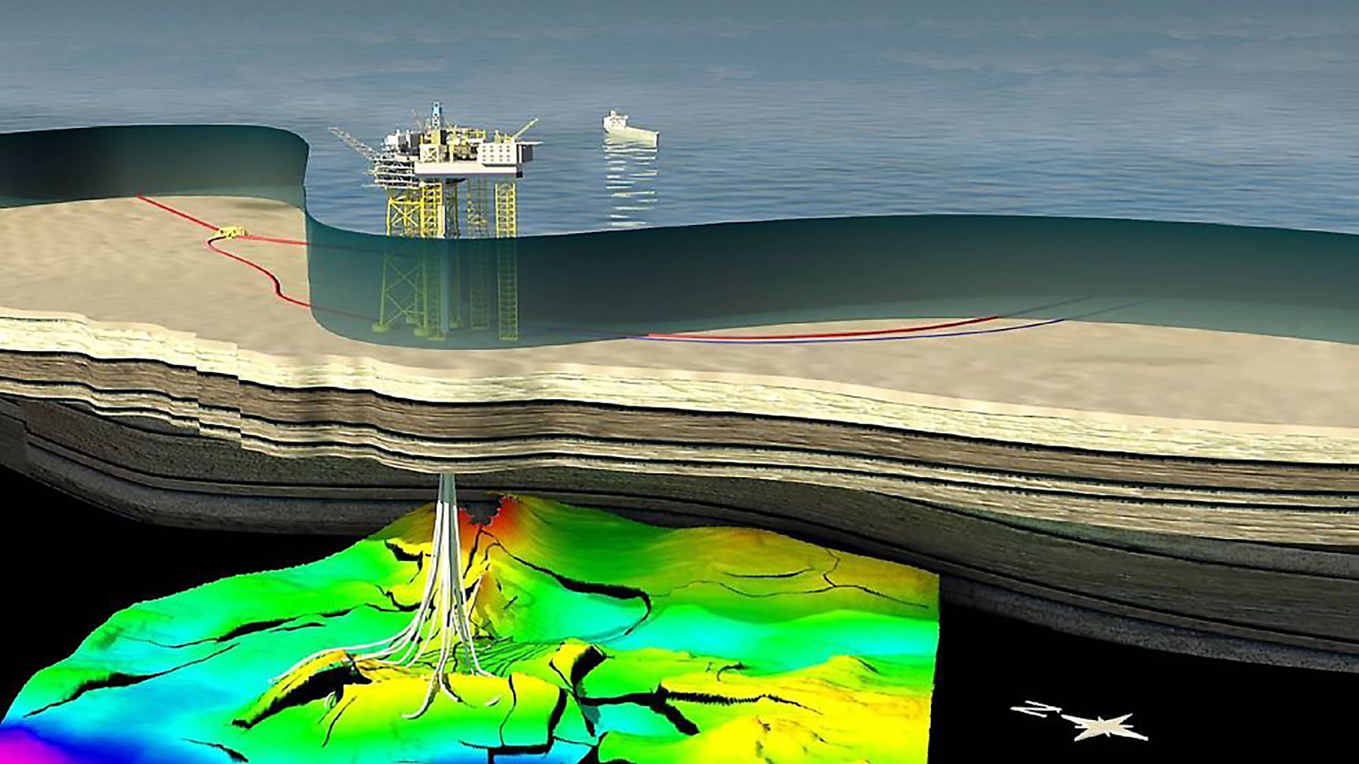 Gina Krog is developed with a seabed production facility and a storage ship for oil. (Illustration: Statoil)