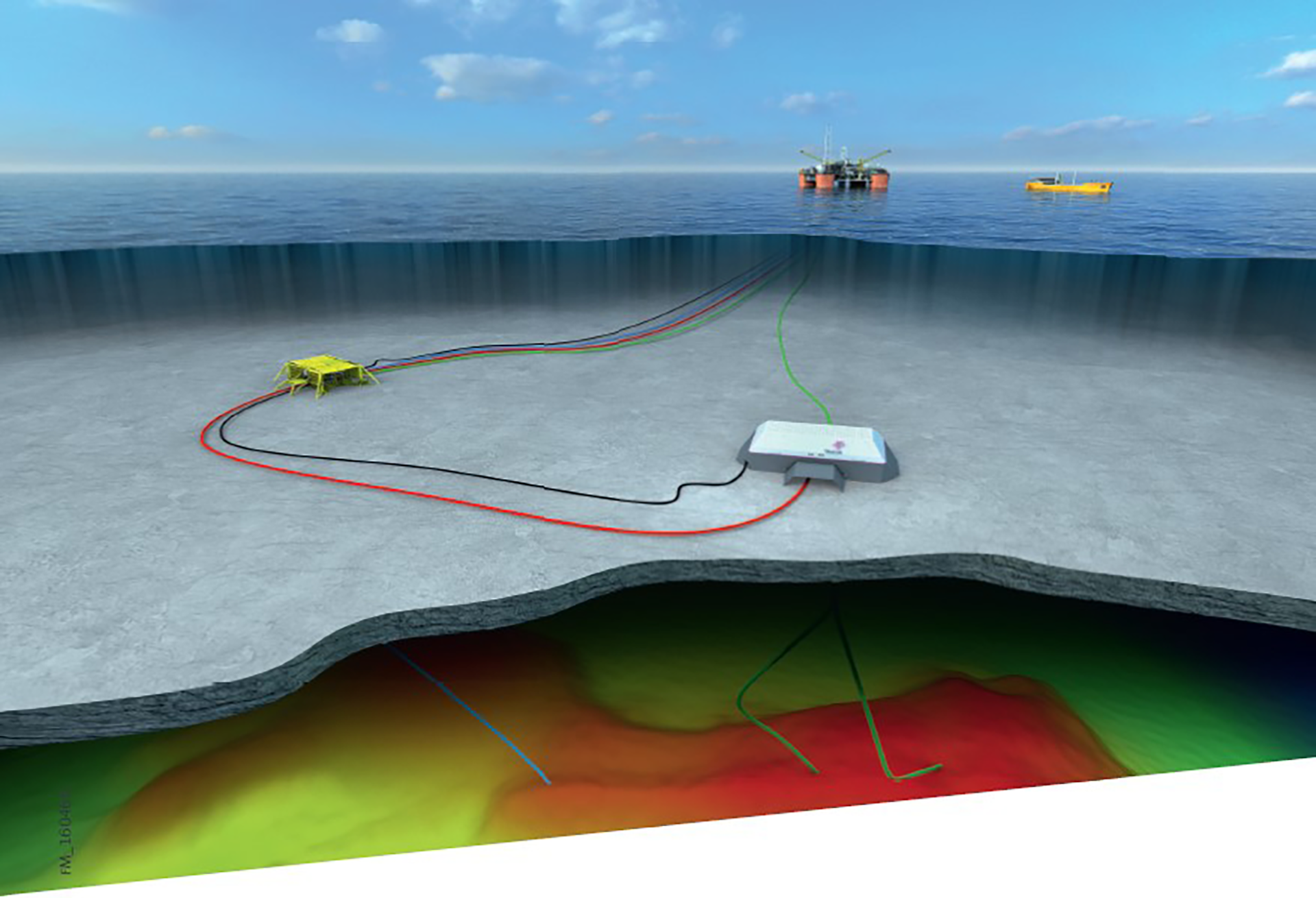 The Bauge discovery will be tied in to the upgraded Njord field with planned start-up in 2020. Anticipated investments are NOK 19.8 billion. (Illustration: Statoil)