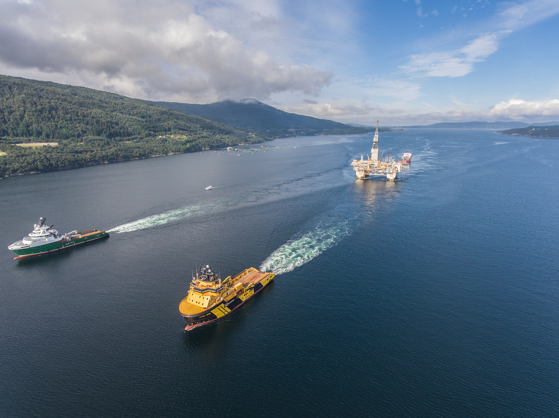 Production on Njord was halted in 2016 and the facilities were brought to shore for upgrades after cracks were discovered in the structure. Production will resume in 2020. (Photo: Statoil).