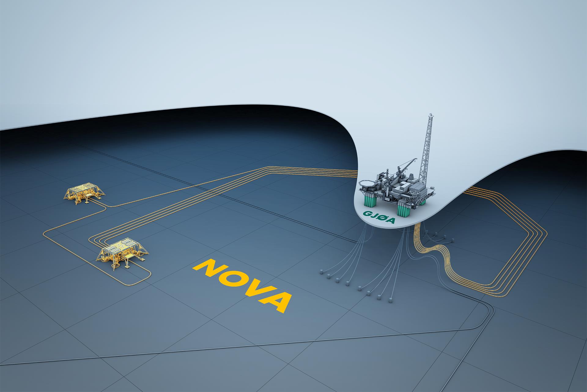 Nova is a subsea development that will be tied in to the Gjøa facility in the North Sea. (illustration: Wintershall)